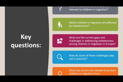 Webinar: No child should be stateless: Ensuring the right to a nationality for children in migration in Europe
