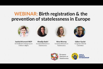 Webinar: Birth registration and the prevention of statelessness in Europe