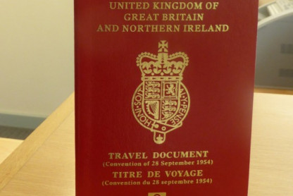 UK statelessness travel document