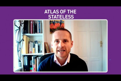 ENS Director Chris speaking at Atlas of the Stateless launch event