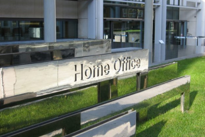 UK Home Office sign