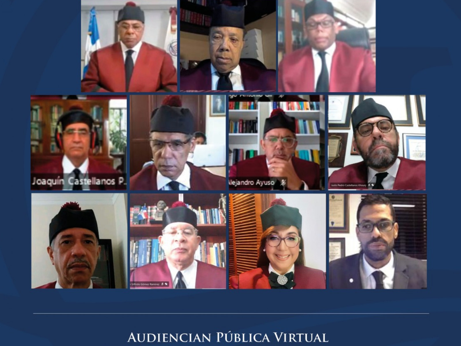 Dominican Constitutional Court in virtual hearing