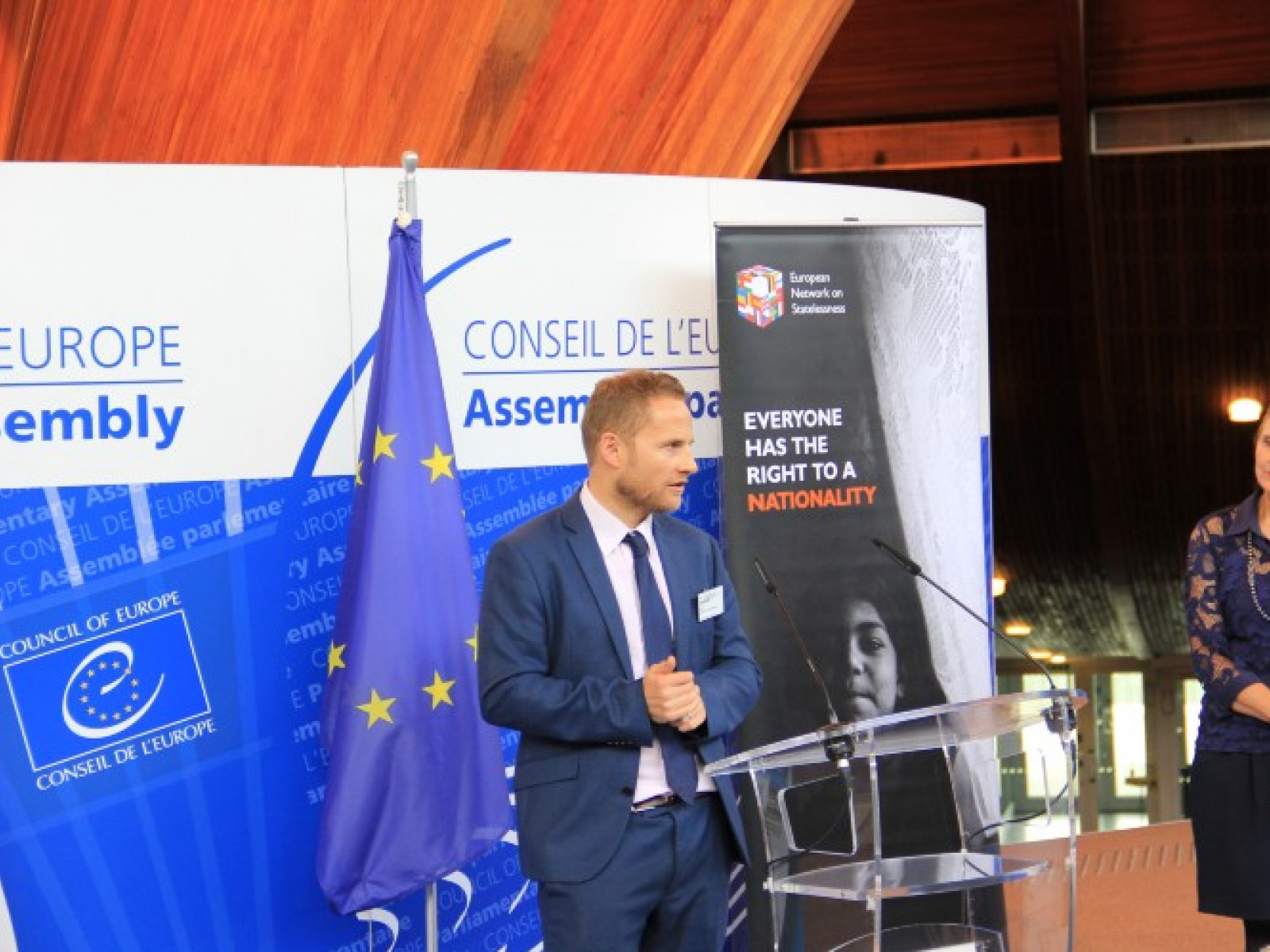 ENS Director speaking at an event at the Parliamentary Assembly of the Council of Europe
